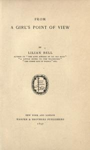 Cover of: From a Girl's Point of View by Lilian Bell
