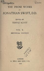 Cover of: The prose works of Jonathan Swift by Jonathan Swift