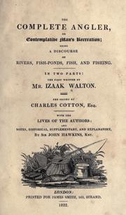 Cover of: Compleat angler by Izaak Walton