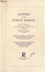 Cover of: Looters of the public domain by Stephen A. Douglas Puter