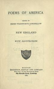 Cover of: Poems of America by Henry Wadsworth Longfellow