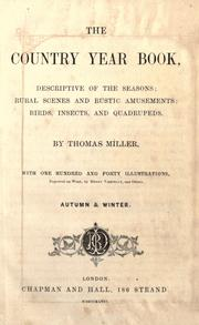 Cover of: The country year book by Miller, Thomas