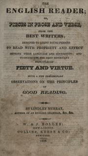 Cover of: The English reader by Murray, Lindley