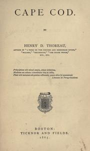 Cover of: Cape Cod by Henry David Thoreau