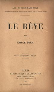 Cover of: Le Reve by Émile Zola