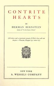 Cover of: Contrite Hearts by Herman Bernstein