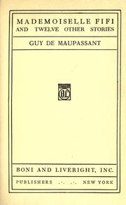 Cover of: Mademoiselle Fifi And Twelve Other Stories by Guy de Maupassant