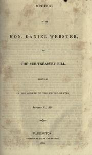Cover of: Speech of the Hon. Daniel Webster by Webster, Daniel