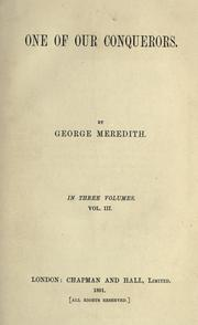 Cover of: One of our conquerors by George Meredith