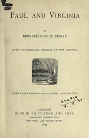 Cover of: Paul et Virginie by Bernardin de Saint-Pierre