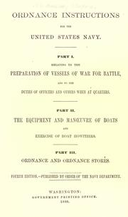 Cover of: Ordnance instructions for the United States Navy by United States. Navy Dept. Bureau of Ordnance