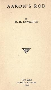 Cover of: Aaron&#39;s Rod by D. H. Lawrence