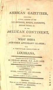 Cover of: The American gazetteer by Jedidiah Morse