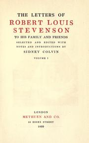 Cover of: The  letters of Robert Louis Stevenson to his family and friends by Robert Louis Stevenson