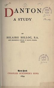 Cover of: Danton by Hilaire Belloc