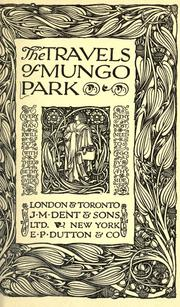 Cover of: The travels of Mungo Park by Mungo Park