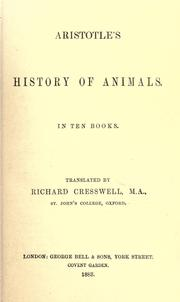 Cover of: Historia animalium by Aristotle