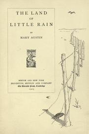 Cover of: The  land of little rain by Mary Austin, Mary Hunter Austin