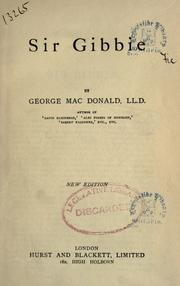 Cover of: Sir Gibbie by George MacDonald