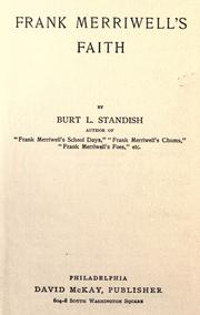 Cover of: Frank Merriwell's Faith by Burt L. Standish