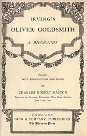 Cover of: Oliver Goldsmith by Washington Irving