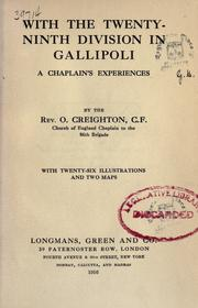 Cover of: With the Twenty-ninth division in Gallipoli by Oswin Creighton