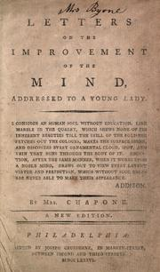 Cover of: Letters on the improvement of the mind by Chapone Mrs.
