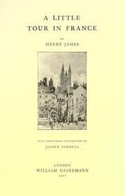 Cover of: A little tour in France by Henry James, Jr.