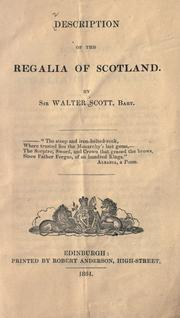 Cover of: Description of the regalia of Scotland by Sir Walter Scott