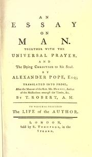 Pope s Poems and Prose An Essay on Man: Epistle I Summary