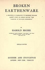 Cover of: Broken earthenware by Begbie, Harold