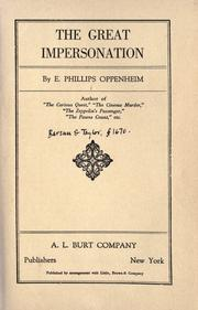 Cover of: The great impersonation by E. Phillips Oppenheim