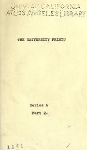 Cover of: University prints by University Prints (Winchester, Mass.)