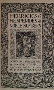 Cover of: Hesperides by Herrick, Robert
