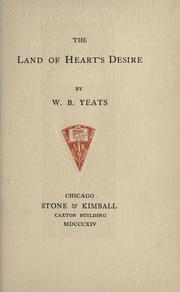 Cover of: The land of heart's desire by William Butler Yeats