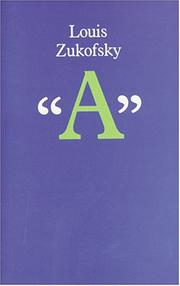 "Cover of: ""A"" by Louis Zukofsky"