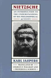 Cover of: Nietzsche by Karl Jaspers