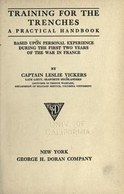 Cover of: Training for the trenches by Leslie Vickers