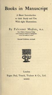 Cover of: Books in manuscript by Falconer Madan