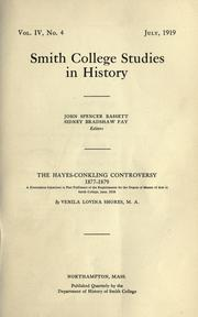 Cover of: The Hayes-Conkling controversy, 1877-1879 by Venila Lovina Shores