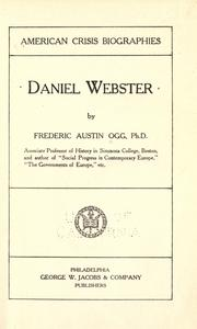 Cover of: Daniel Webster by Frederic Austin Ogg
