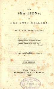 Cover of: The sea lions by James Fenimore Cooper