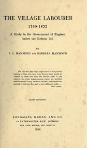 Cover of: The village labourer, 1760-1832 by Hammond, J. L.