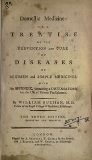 Cover of: Domestic medicine by Buchan, William