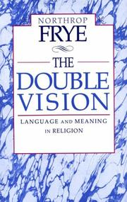 Cover of: The double vision by Northrop Frye