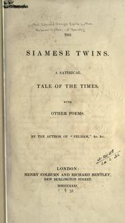 Cover of: The Siamese twins by Edward Bulwer Lytton