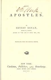 Cover of: The apostles by Ernest Renan