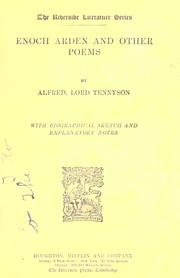 Cover of: Enoch Arden, and other poems by Alfred, Lord Tennyson