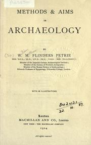 Cover of: Methods & aims in archaeology by W. M. Flinders Petrie