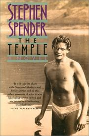 Cover of: The temple by Spender, Stephen